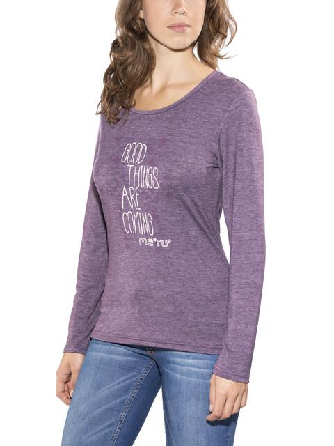 Meru Lidingö L/S Shirt Women deep purple melange